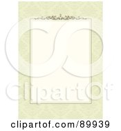 Royalty Free RF Clipart Illustration Of A Decorative Invitation Border And Frame With Copyspace Version 3