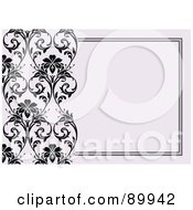 Royalty Free RF Clipart Illustration Of A Decorative Invitation Border And Frame With Copyspace Version 13