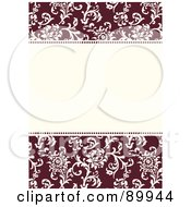 Royalty Free RF Clipart Illustration Of A Floral Invitation Border And Frame With Copyspace Version 11