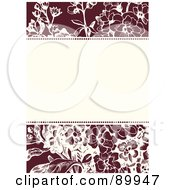 Royalty Free RF Clipart Illustration Of A Daisy Patterned Invitation Border And Frame With Copyspace Version 2