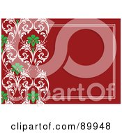 Royalty Free RF Clipart Illustration Of A Christmas Invitation Border And Frame With Copyspace Version 2 by BestVector