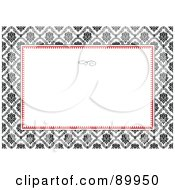 Royalty Free RF Clipart Illustration Of A Floral Invitation Border And Frame With Copyspace Version 27