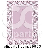 Royalty Free RF Clipart Illustration Of A Floral Invitation Border And Frame With Copyspace Version 7