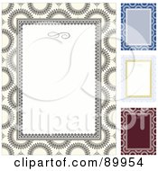 Royalty Free RF Clipart Illustration Of A Digital Collage Of Decorative Invitation Borders And Frames With Copyspace