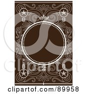 Royalty Free RF Clipart Illustration Of A Decorative Invitation Border And Frame With Copyspace Version 10