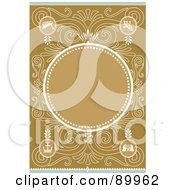 Royalty Free RF Clipart Illustration Of A Christmas Invitation Border And Frame With Copyspace Version 5