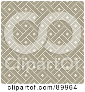 Royalty Free RF Clipart Illustration Of A Seamless Beige Crosshatch Pattern Background