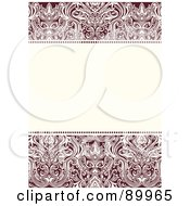 Royalty Free RF Clipart Illustration Of A Crest Pattern Invitation Border And Frame With Copyspace Version 4