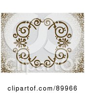 Royalty Free RF Clipart Illustration Of A Decorative Invitation Border And Frame With Copyspace Version 9
