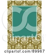 Royalty Free RF Clipart Illustration Of A Daisy Patterned Invitation Border And Frame With Copyspace Version 1