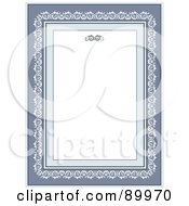 Royalty Free RF Clipart Illustration Of A Decorative Invitation Border And Frame With Copyspace Version 6