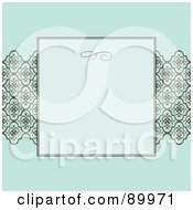 Royalty Free RF Clipart Illustration Of A Crest Pattern Invitation Border And Frame With Copyspace Version 3