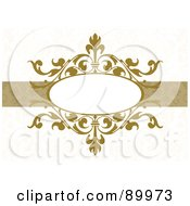 Royalty Free RF Clipart Illustration Of A Decorative Invitation Border And Frame With Copyspace Version 2