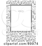 Royalty Free RF Clipart Illustration Of A Daisy Patterned Invitation Border And Frame With Copyspace Version 4