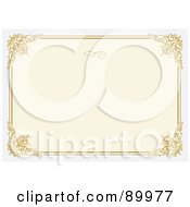 Royalty Free RF Clipart Illustration Of A Floral Invitation Border And Frame With Copyspace Version 14