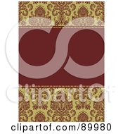 Royalty Free RF Clipart Illustration Of A Christmas Invitation Border And Frame With Copyspace Version 1 by BestVector