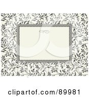 Royalty Free RF Clipart Illustration Of A Floral Invitation Border And Frame With Copyspace Version 10
