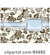 Royalty Free RF Clipart Illustration Of A Floral Invitation Border And Frame With Copyspace Version 8 by BestVector