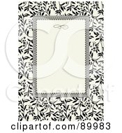 Royalty Free RF Clipart Illustration Of An Invitation Border And Frame With Copyspace Version 15 by BestVector