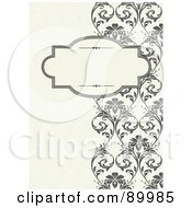 Royalty Free RF Clipart Illustration Of A Decorative Invitation Border And Frame With Copyspace Version 7 by BestVector