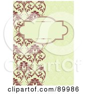 Royalty Free RF Clipart Illustration Of A Christmas Invitation Border And Frame With Copyspace Version 10 by BestVector