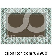 Royalty Free RF Clipart Illustration Of A Damask Patterned Invitation Border And Frame With Copyspace Version 2 by BestVector