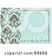 Royalty Free RF Clipart Illustration Of A Floral Invitation Border And Frame With Copyspace Version 2 by BestVector