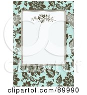 Royalty Free RF Clipart Illustration Of A Floral Invitation Border And Frame With Copyspace Version 3 by BestVector
