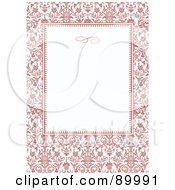 Royalty Free RF Clipart Illustration Of A Decorative Invitation Border And Frame With Copyspace Version 15