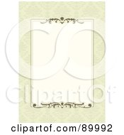 Royalty Free RF Clipart Illustration Of A Decorative Invitation Border And Frame With Copyspace Version 1