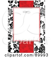 Royalty Free RF Clipart Illustration Of A Floral Invitation Border And Frame With Copyspace Version 28 by BestVector