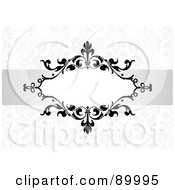 Royalty Free RF Clipart Illustration Of A Floral Invitation Border And Frame With Copyspace Version 26