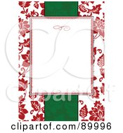 Royalty Free RF Clipart Illustration Of A Christmas Invitation Border And Frame With Copyspace Version 4 by BestVector