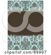 Royalty Free RF Clipart Illustration Of A Damask Patterned Invitation Border And Frame With Copyspace Version 3 by BestVector