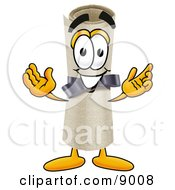 Clipart Picture Of A Diploma Mascot Cartoon Character With Welcoming Open Arms