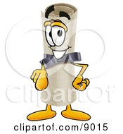 Clipart Picture Of A Diploma Mascot Cartoon Character Pointing At The Viewer