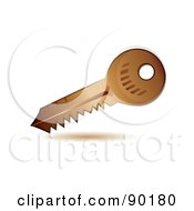 Royalty Free RF Clipart Illustration Of A 3d Golden Security Key App Icon