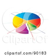 Royalty Free RF Clipart Illustration Of A 3d Divided Pie Chart Statistic App Icon by MilsiArt