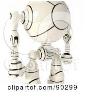 Closeup Fo A 3d Shiro Maru Robot Torso