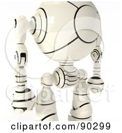 Royalty Free RF Clipart Illustration Of A Closeup Fo A 3d Shiro Maru Robot Torso by Leo Blanchette