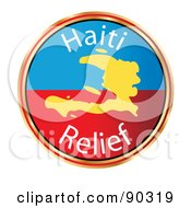 Royalty Free RF Clipart Illustration Of A Haiti Relief Circle With A Map by MacX