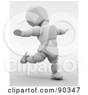 Royalty Free RF Clipart Illustration Of A 3d Figure Skating White Character