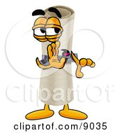 Clipart Picture Of A Diploma Mascot Cartoon Character Whispering And Gossiping by Toons4Biz