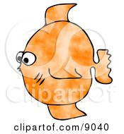 Small Orange Saltwater Fish Clipart Illustration by djart
