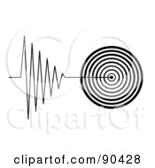 Royalty Free RF Clipart Illustration Of A Black And White Tremor Signal On White by oboy