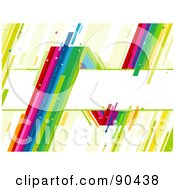 Royalty Free RF Clipart Illustration Of A Sharp Rainbow Around A Text Box by BNP Design Studio