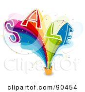 Royalty Free RF Clipart Illustration Of A Rainbow Sail Bursting From A Shopping Bag