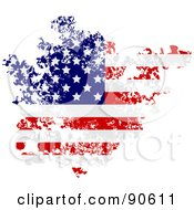 Royalty Free RF Clipart Illustration Of A Grungy Distressed American Flag by elaineitalia