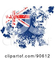 Royalty Free RF Clipart Illustration Of A Grungy Distressed Australian Flag