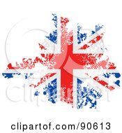 Royalty Free RF Clipart Illustration Of A Grungy Distressed Union Jack Flag by elaineitalia